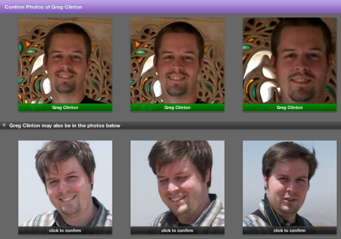 iPhoto can't tell the difference between identical-ish twins?